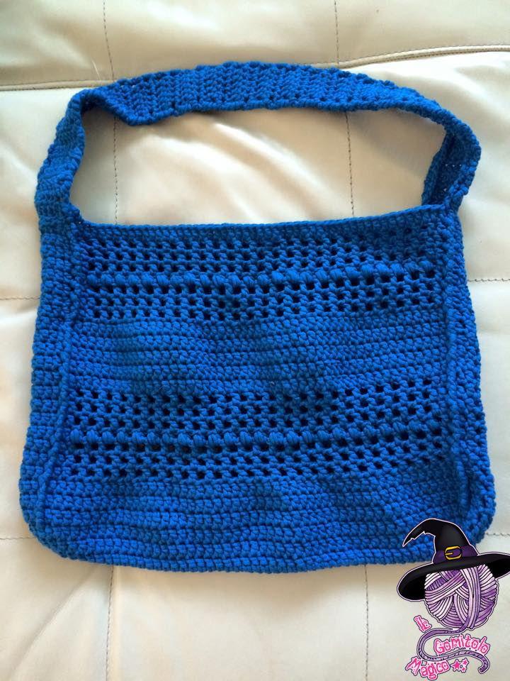 Blue bag crochet