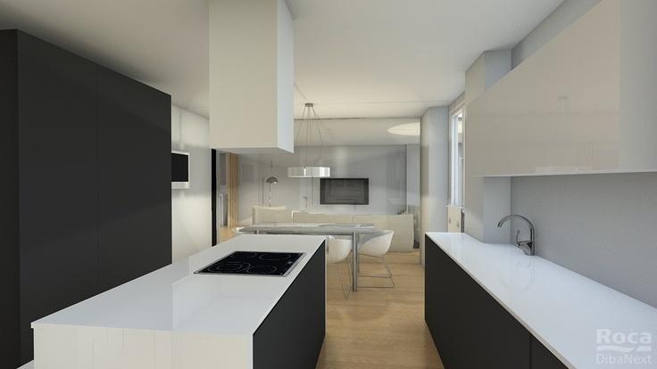 Reforma Baño En Vigo:Proyecto de cocina en 3D para una de nuestras reformas