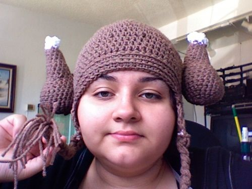 Ravelry: Chicken Viking Hat in Crochet pattern by skullseamstress  WHAT IS THIS I CANNOT EVEN