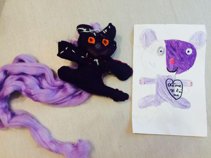 #Art Thérapie#Animal Totem#Drawing#Sewing#SabrinaMazzolaArtThérapie