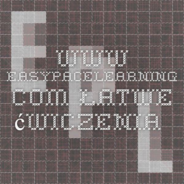 www.easypacelearning.com łatwe ćwiczenia