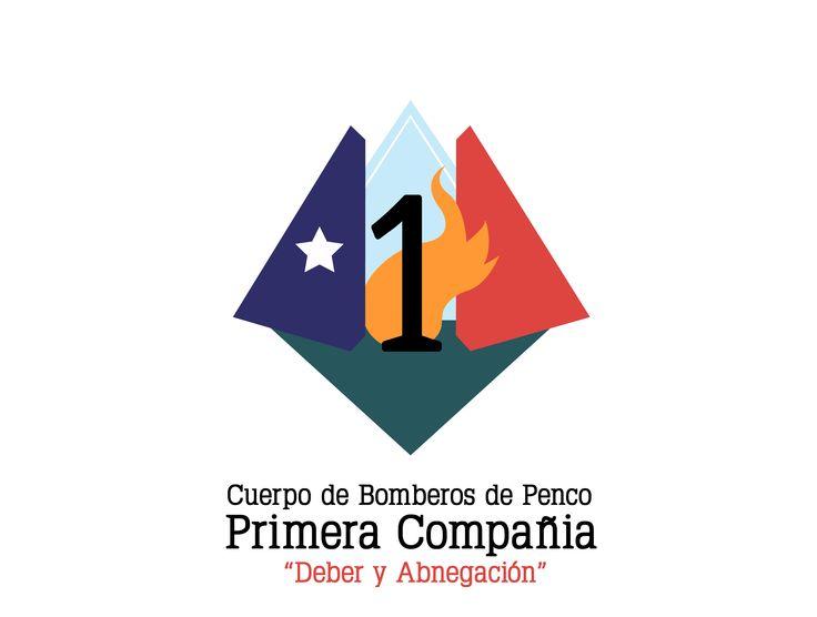 Marca: Rediseño de escudo para Cuerpo de Bomberos de Penco, Primera Compañía  Año: 2013