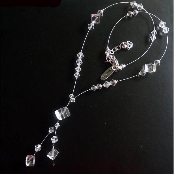 Kristallklarer Schmuck Y-Kette Ornara ® Design