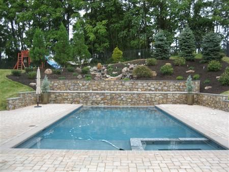 Swimming Pool Retainer Wall Pool Retaining Walls Build
