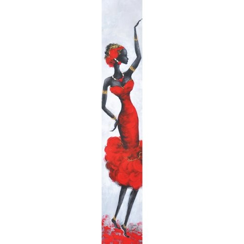 Yosemite Home Decor 20 by 79-Inch Lady Red III Hand Painted Contemporary Artwork, Figurative $104.05