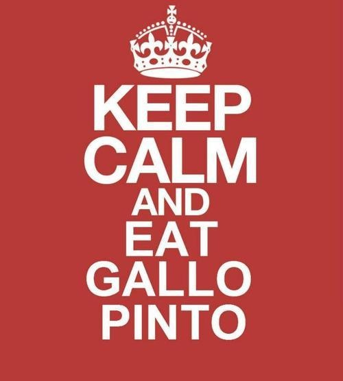 Gallo Pinto, typical Costa Rican's dish. Ingredients: rice & beans mixed together, with species such as cilantro, bell peppers and onions, plus the traditional sauce called Lizano sauce or English sauce! Try & enjoy!