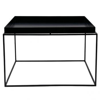Tarjotinpöytä iso, musta 600x600, Design Shop tai Stockmann, 205e