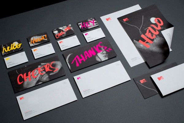 MTV Stationery by Motherbird, via Behance