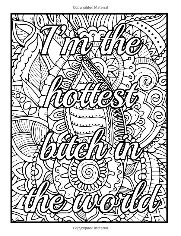 Coloring Pages For Adults Swear Words - Cinebrique
