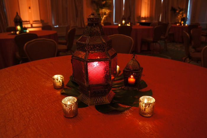 <p> Lanterns, whether simple or ornate, offer a theatrical alternative to traditional tabletop decor. Style the lighting items to suit...