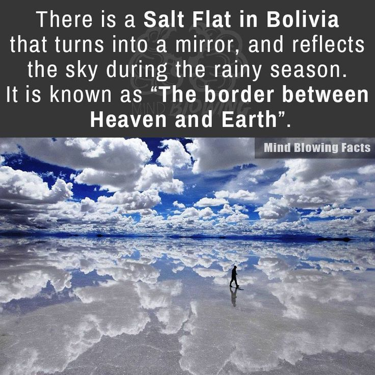 There's a salt flat in #Bolivia that turns into a mirror and reflects the sky during the rainy season!  #wanderlust #travel #photography #travelphotography #photographer
