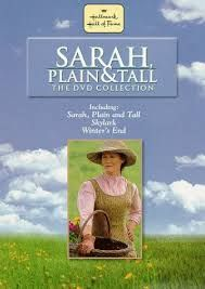 "Sarah Plain & Tall Trilogy (sequels: Skylark and Winter's End) - A single New England woman responds to an advertisement from a Midwestern widower who asks for a bride to help raise his two children. Set at the turn of the century.  Jacob, a farmer with two small children, places an ad in a paper for a new wife. The ad is answered by a spinster in Maine, who writes letters to them describing herself as ""plain and tall."" She takes a trip to Jacob's farm to see if she can make a difference."
