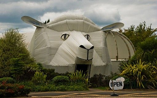 Giant Sheep building in Tirau