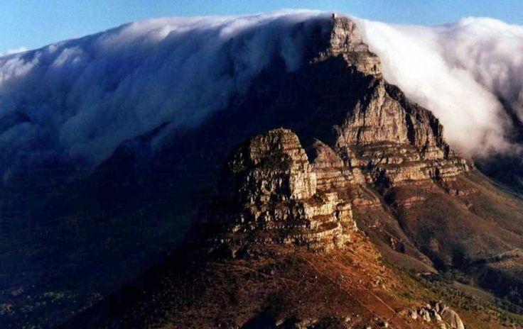 View of fog on Table Mountain