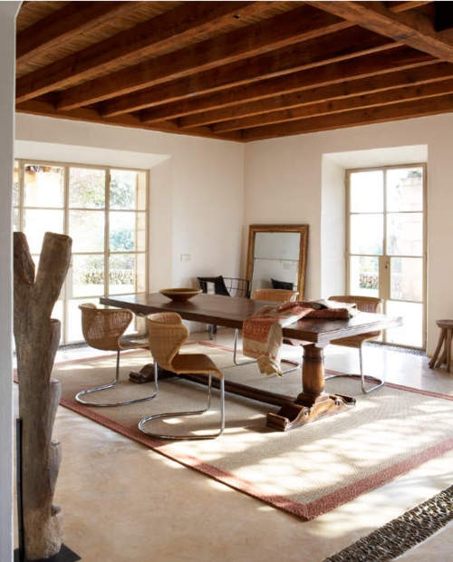 Interior inspiration, #interior, cross leg dining table, chunky table, large dining table