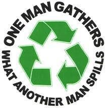 Grateful Dead Quote Recycle Vinyl Sticker  One Man Gathers