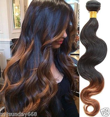 Real Human Hair Extensions 50% Off 2Tone:1B/30# Body Wave Human Hair Weaving | Health & Beauty, Hair Care & Styling, Hair Extensions & Wigs | eBay!