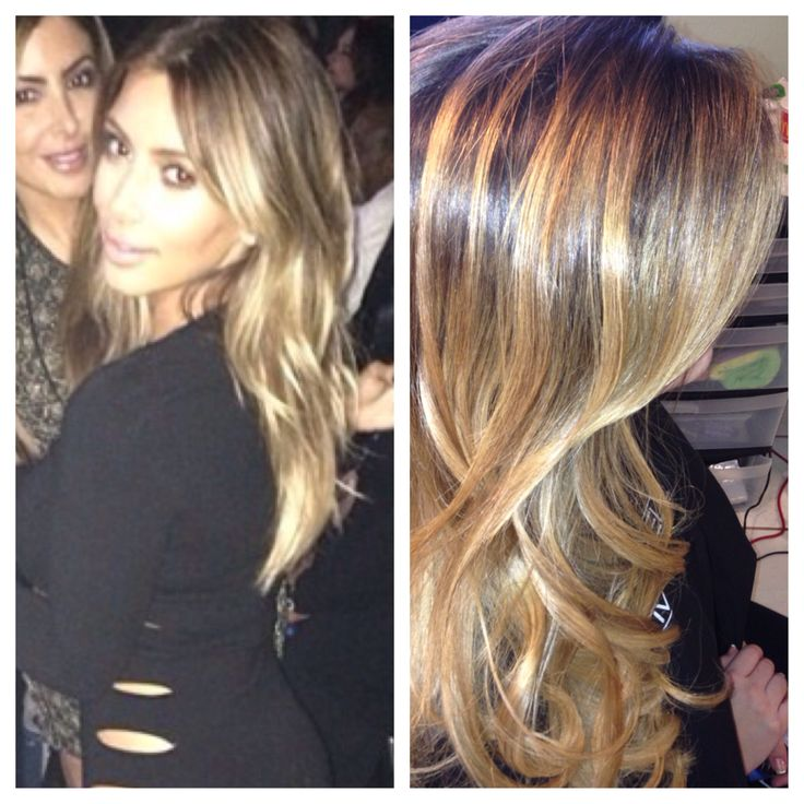 hair Kim blonde kardashian with