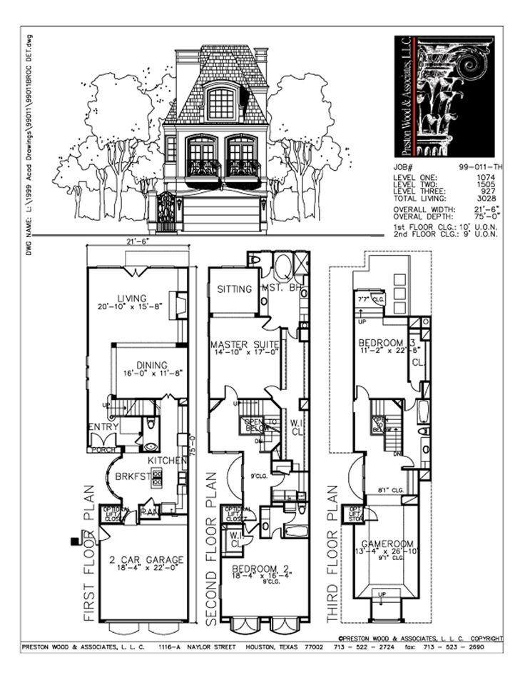 67 Best Townhouse Duplex Plans Images On Pinterest