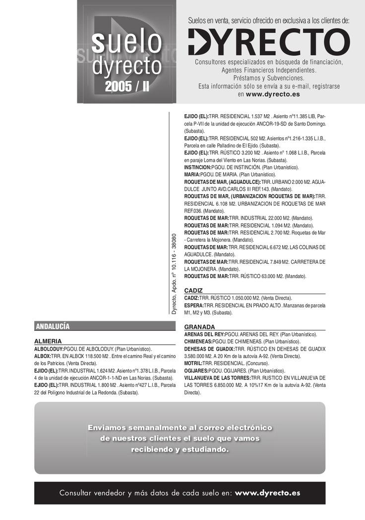 boletin-2005-2 Venta de suelo, hoteles, spas, geriátricos...