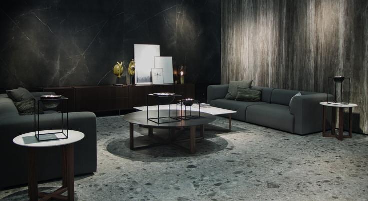 grootformaat tegels en in plaatmateriaal, marmer imitatie, hout, terrazzo granito