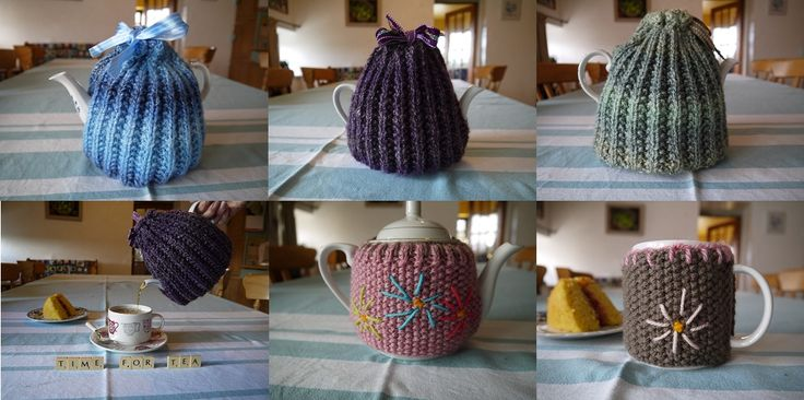 hand knitted tea cozys / cosies / cosys + mug hugs, £9.00 - £4.50 by Annessa Crafts