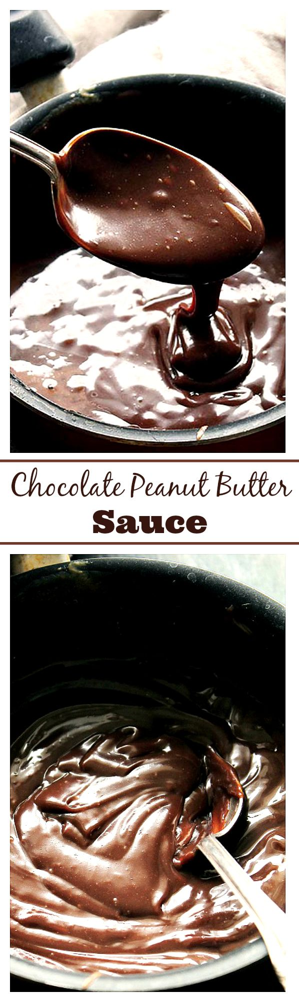 Chocolate Peanut Butter Hot Fudge Sauce - A delicious recipe for Hot Fudge Sauce made with Chocolate Chips and Peanut Butter.