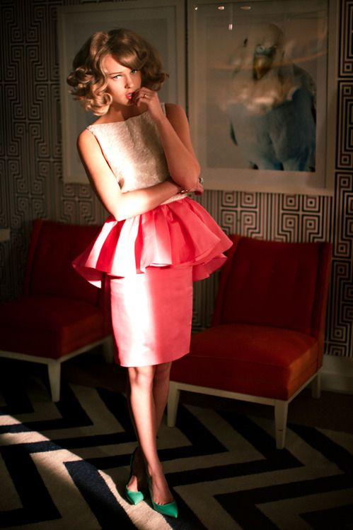 love: Pink Peplum, Things Pink, Bridesmaid Dresses, Peplumt Style, Style Peplumdresses, Beauty, 2Dayslook Peplumt, Style Peplumtfashion, Peplum Style