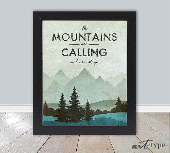 Montagne cite Print les montagnes sont appel par theARTofTYPE