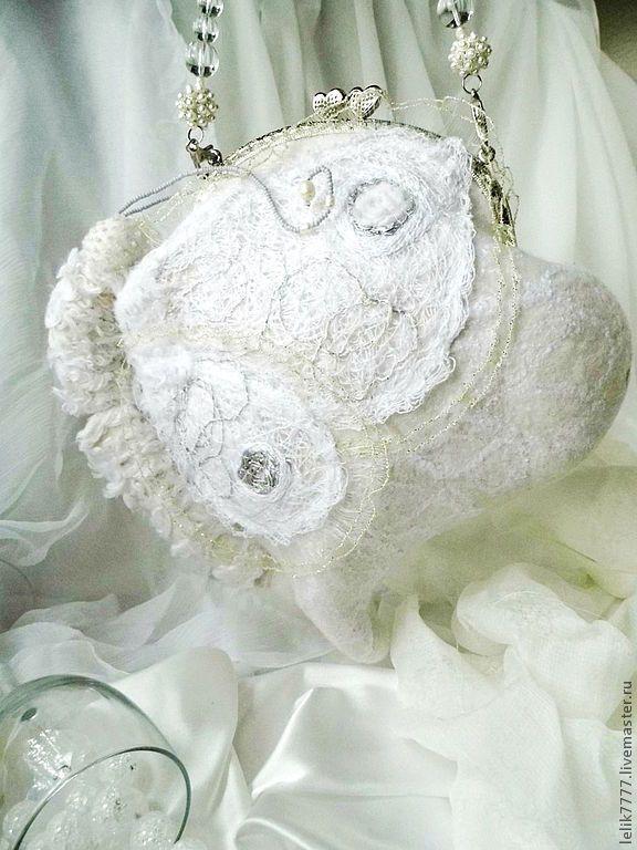 """Купить Сумочка """"Летящая на свет"""" - белый, айвори, свадебная сумочка, сумка для свадьбы, купить сумку"""