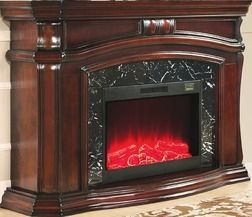 """62"""" Grand Cherry Electric Fireplace from Big Lots $599.99 (HOT DEALS) >"""
