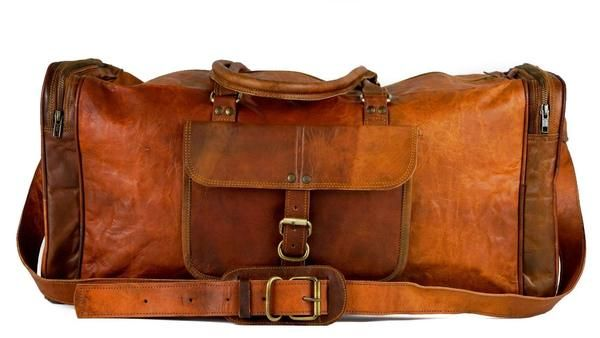 Vintage Handmade Leather Sydney Duffle Overnight bag - Vintage Leather