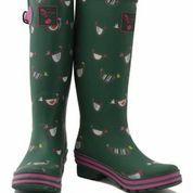 Evercreatures Evergreen Chicken Tall Wellington Boots | Womens