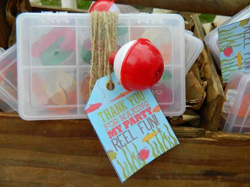 Tackle Box Gone Fishing Birthday Party Favors Boy Themed Birthday Party Ideas Gummy Worms Fishing Bobbers