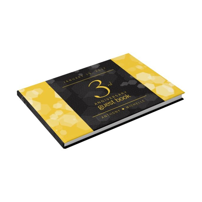 Elegant 3rd Leather Wedding Anniversary Guest Book Anniversaries And