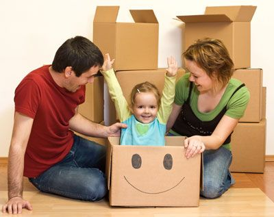 Moving with children. Also, that is an adorable photo.