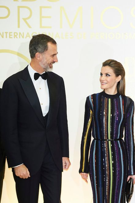 "King Felipe and Queen Letizia attend the dinner in honor of the winners with the prizes ""Mariano de Cavia"", ""Luca de Tena"" and ""Mingote""  