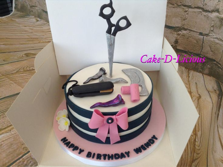 Hairdressers Cake - Cake by Cake-D-Licious