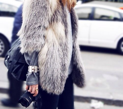 furry fab with a cuff. NYC.