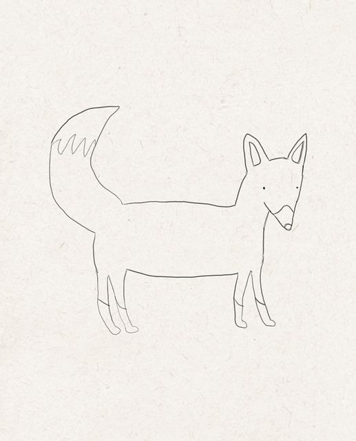 Line Drawing Fox : Fox line drawing stitchbitch pinterest photos