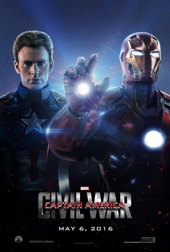captain america civil war 2016 poster by on deviantart marvel. Black Bedroom Furniture Sets. Home Design Ideas