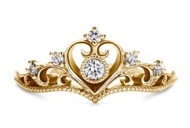プリンセスティアラ・ハート(型番ID:RDANS-550) | ディズニー婚約指輪 | 結婚指輪・婚約指輪のケイ・ウノ