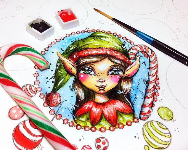 ArtsyAdventCalendar - December 1st - December Daily Art by Andrea Gomoll