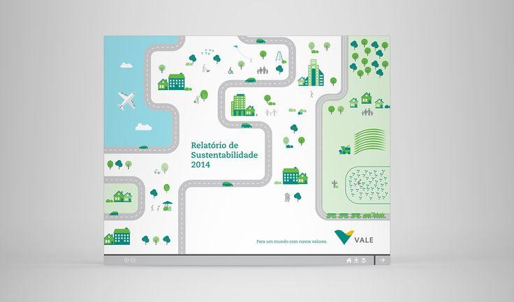 Vale | Relatório de Sustentabilidade 2014 on Behance