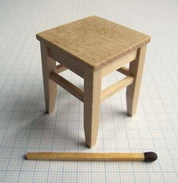 How To: Stool (If you make the legs longer it could be used as a child doll's seat at the dinner table)
