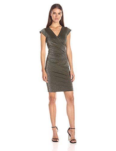 Nicole Miller Women's Lurex Ponte Side Tuck Dress - http://www.darrenblogs.com/2016/11/nicole-miller-womens-lurex-ponte-side-tuck-dress/