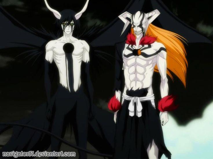 Ulquiorra's second release and Ichigo's Vasto Lorde form. | Bleach ...