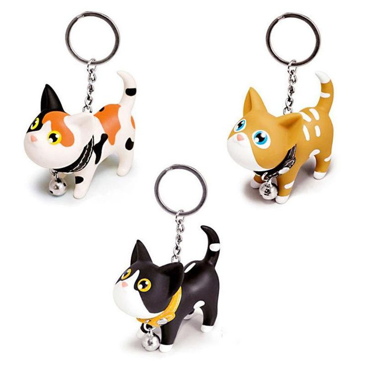 Cute Style Animal Vinyl Toy Lovely Cute Cat Kitten Keychain Gift for kids Gift