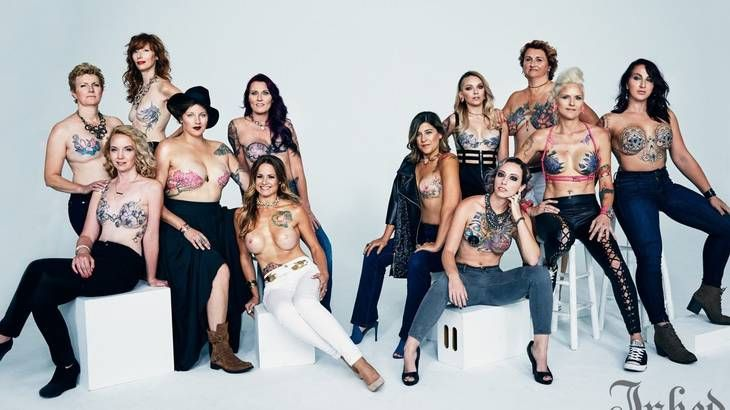 For a photo shoot with Inked magazine, 12 women revealed their beautiful and inspiring mastectomy tattoos.