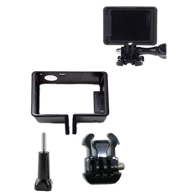 Protective Standard Frame For Go Pro Accessories Housing Case Border Tripod Adapter Mount Screw For Gopro Hero 4 3 3 Review Camcorder Case